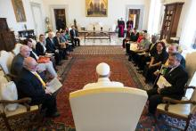 Ferenc pápa és a Szent András Evangelizációs Iskola nemzetközi tanácsa
