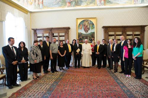 Ferenc pápánál a Szent András Evangelizációs Iskola nemzetközi tanácsa