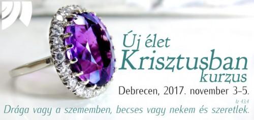 Új élet Krisztusban kurzus Debrecen, 2017. (Kép:(CC) Sara Graves, forrás: https://www.pexels.com/photo/accessory-amethyst-birthstone-bright-371102/)