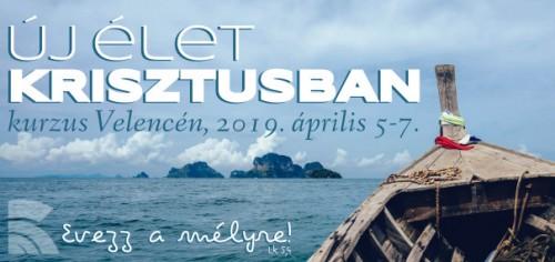 Új élet Krisztusban kurzus Velence 2019; kép: (CC) Fancycrave.com: Brown Wooden Boat on Sea - https://www.pexels.com/photo/boat-island-ocean-sea-218999/