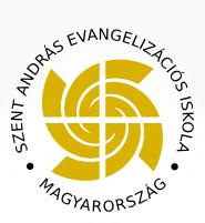 Szent András Evangelizációs Iskola • Magyarország logó